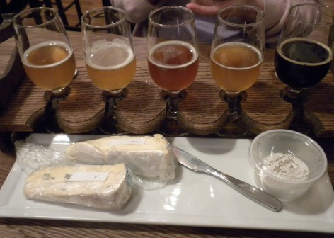 Specialty flight and delicious cheese!