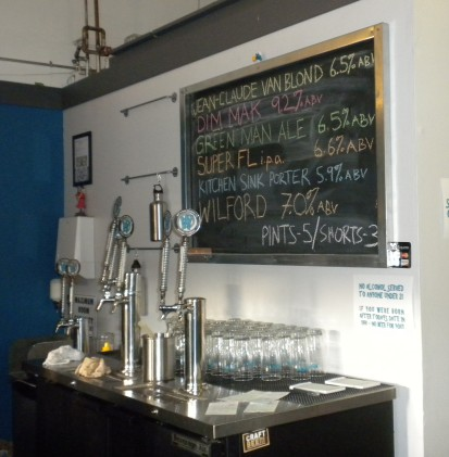 Wit's End Taps and Menu