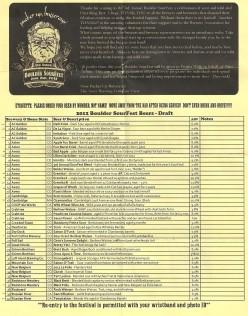 Beer Menu Page 1